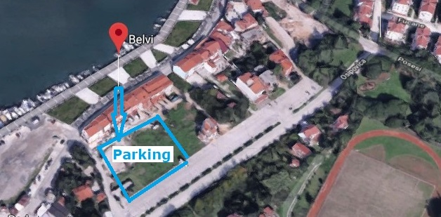 Restaurant Belvi, parking, Medulin