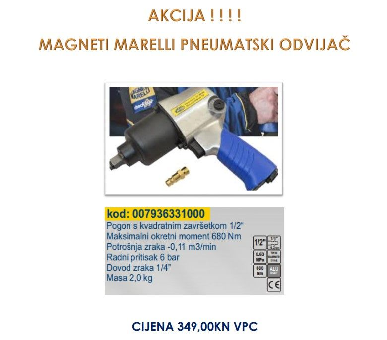 Popust na Magneti Marelli pneumatski odvijač